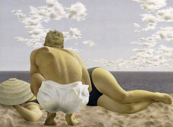 Colville couple on beach 1957